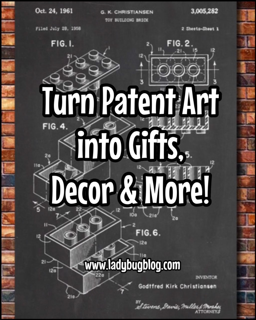 Turn Patent Art Into Gifts D Cor And More Ladybug Blog